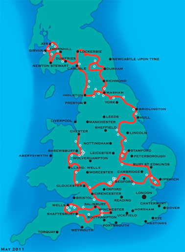 National Byways UK Map