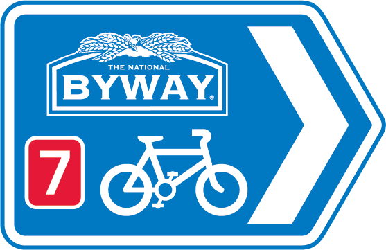 The National Byway shared route sign