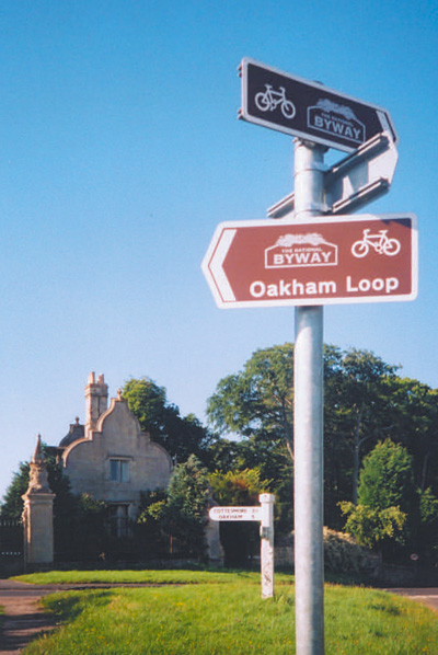 Oakham Loop sign, Rutland